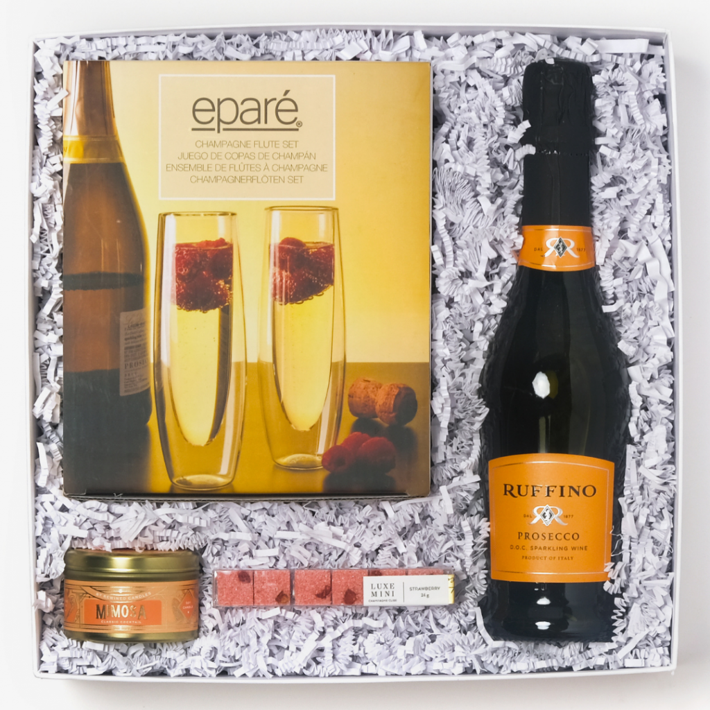 strawberry mimosa cocktail kit gift box